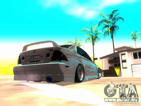 Toyota Altezza HKS para GTA San Andreas vista posterior izquierda