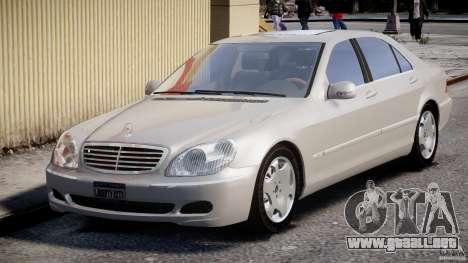 Mercedes-Benz W220 para GTA 4 vista hacia atrás