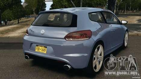 Volkswagen Scirocco R v1.0 para GTA 4 Vista posterior izquierda