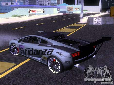 Lamborghini Gallardo Racing Street para GTA San Andreas left