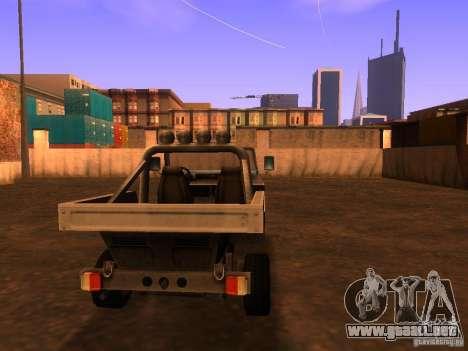 Camioneta de T3 para GTA San Andreas vista posterior izquierda