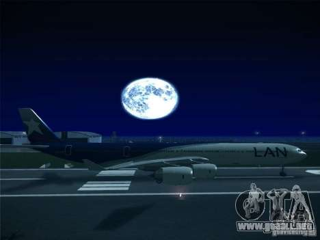 Airbus A340-600 LAN Airlines para GTA San Andreas left