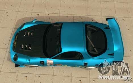 Mazda RX-7 911 Trust para la visión correcta GTA San Andreas
