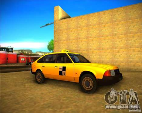 Taxi AZLK 2141 para GTA San Andreas left