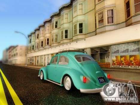 Volkswagen Beetle 1300 para GTA San Andreas left