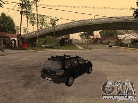 Mitsubishi Outlander 2003 para GTA San Andreas vista posterior izquierda