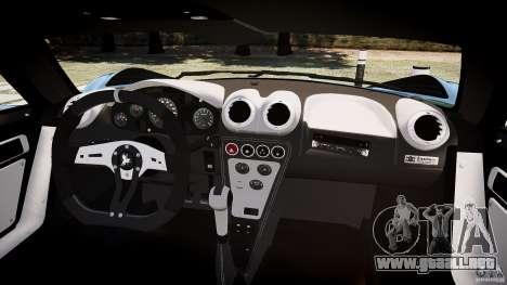 Gumpert Apollo Sport v1 2010 para GTA 4 vista hacia atrás