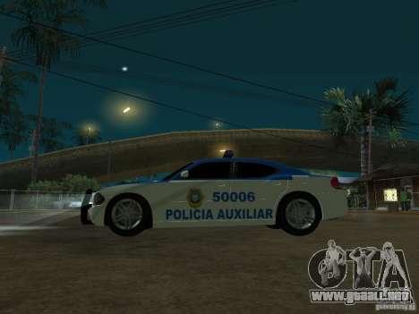 Dodge Charger Police para GTA San Andreas vista hacia atrás