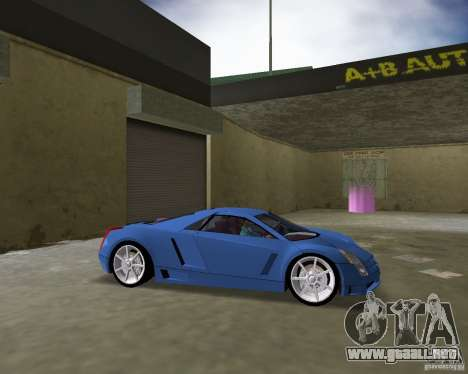 Cadillac Cien para GTA Vice City vista lateral izquierdo