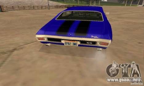 Chevrolet Chevelle SS 1970 para visión interna GTA San Andreas