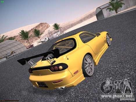 Mazda RX-7 FD3S C-West Custom para la visión correcta GTA San Andreas