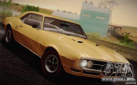 Pontiac Firebird 400 (2337) 1968 para visión interna GTA San Andreas