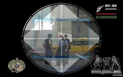 Francotirador mod v. 2 para GTA San Andreas segunda pantalla