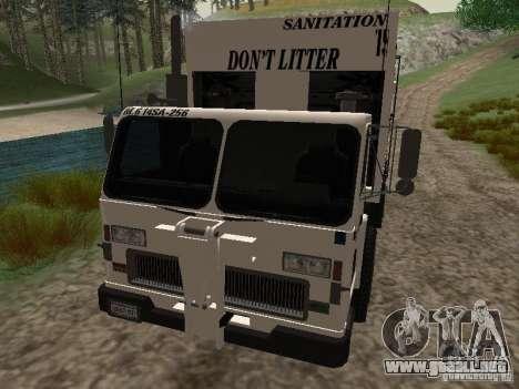 Camión de basura de GTA 4 para vista lateral GTA San Andreas
