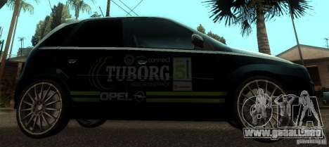 Opel Corsa GSI Rally para GTA San Andreas left