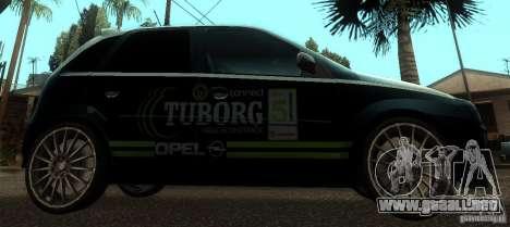 Opel Corsa GSI Rally para GTA San Andreas left