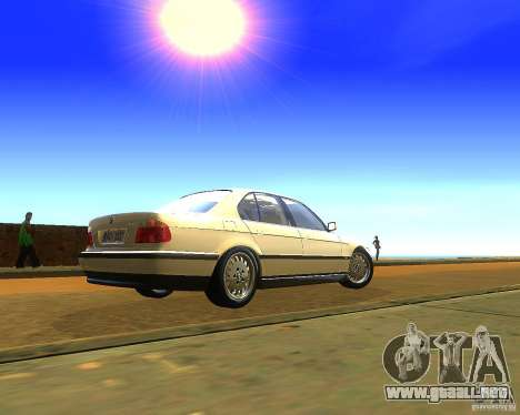 BMW 735i para GTA San Andreas left