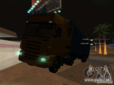 Scania R620 para vista inferior GTA San Andreas