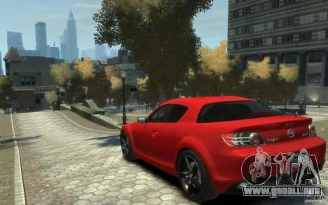 Mazda RX-8 (2006) para GTA 4 Vista posterior izquierda
