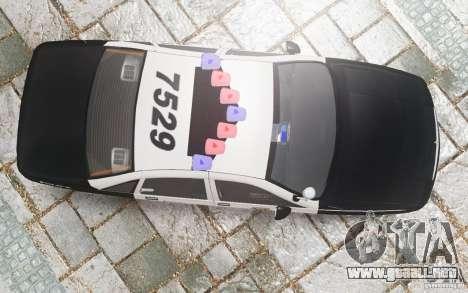 Chevrolet Caprice 1991 Police para GTA 4 vista desde abajo