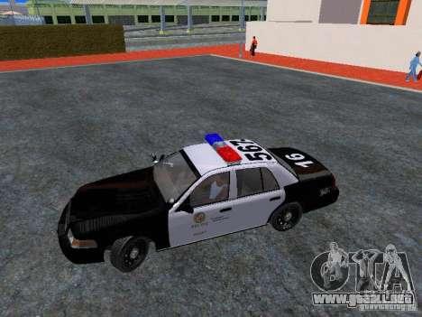 Ford Crown Victoria San Andreas State Patrol para visión interna GTA San Andreas