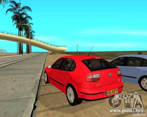 Seat Leon 1.9 TDI para GTA San Andreas vista posterior izquierda