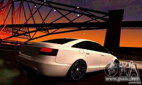 Audi A6 Blackstar para la visión correcta GTA San Andreas