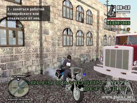 Helmet mod para GTA San Andreas sucesivamente de pantalla