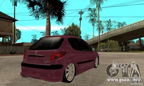 Peugeot 206 Suspen AR para la visión correcta GTA San Andreas