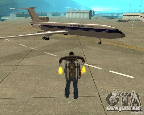 El Tu-154 para la visión correcta GTA San Andreas