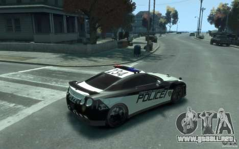 Nissan GT-R R35 Police para GTA 4 visión correcta