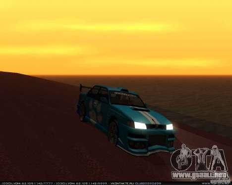 Nuevos vinilos en Sultan para GTA San Andreas vista posterior izquierda