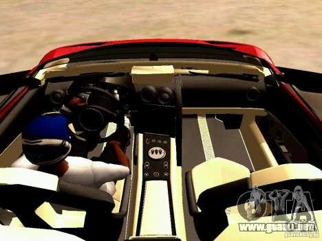 Lamborghini Reventon Roadster para GTA San Andreas vista hacia atrás