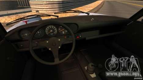 Porsche 911 Carrera RSR 3.0 Coupe 1974 para GTA 4 vista hacia atrás