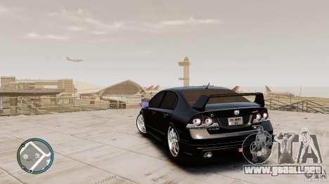 Honda Civic Mugen RR para GTA 4 Vista posterior izquierda