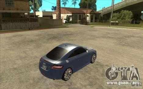 Audi TT 3.2 Coupe para la visión correcta GTA San Andreas