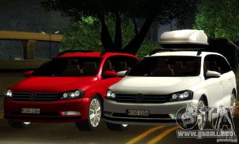 Volkswagen Passat B7 2012 para la vista superior GTA San Andreas