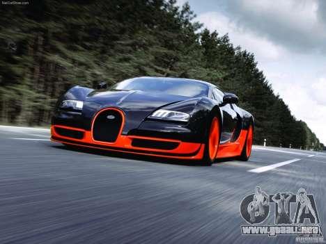 Cargando las pantallas Bugatti Veyron para GTA San Andreas segunda pantalla