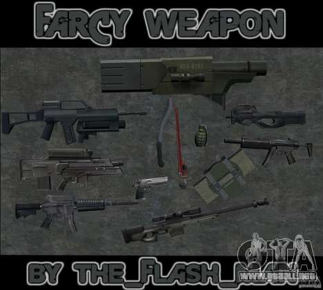 FarCry weapone para GTA San Andreas