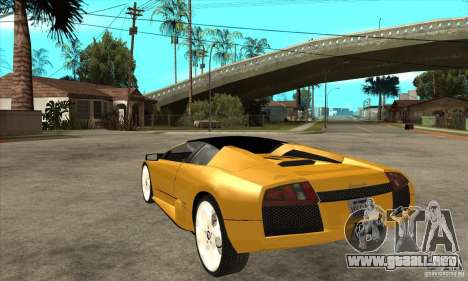 Lamborghini Murcielago Roadster Final para GTA San Andreas vista posterior izquierda