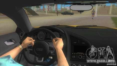Audi R8 V10 TT Black Revel para GTA Vice City visión correcta