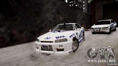 Nissan Skyline R-34 v1.0 para GTA 4