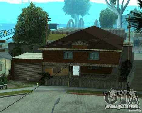 CJâ casa nueva para GTA San Andreas quinta pantalla