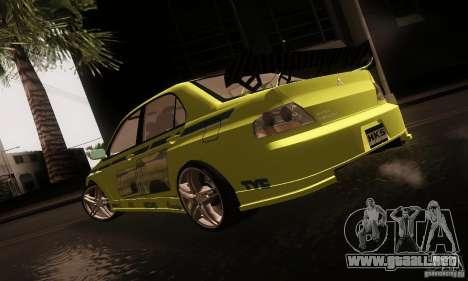 Mitsubishi Lancer Evolution 8 para GTA San Andreas left