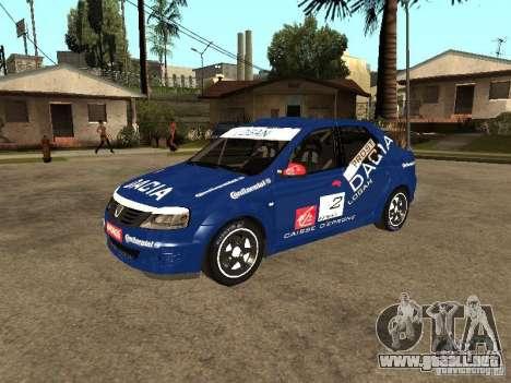 Dacia Logan Rally Dirt para visión interna GTA San Andreas
