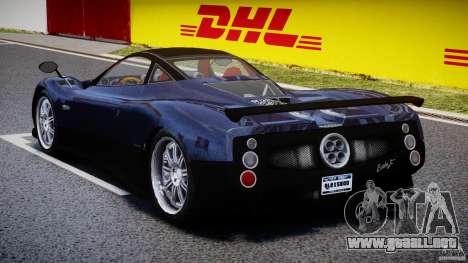 Pagani Zonda F para GTA 4 vista lateral