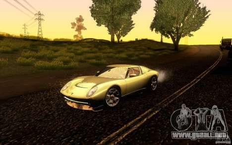 Lamborghini Miura Concept para vista lateral GTA San Andreas