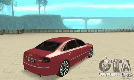 Audi A8L 4.2 FSI para GTA San Andreas left