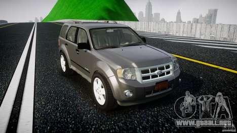Ford Escape 2011 Hybrid Civilian Version v1.0 para GTA 4 vista interior