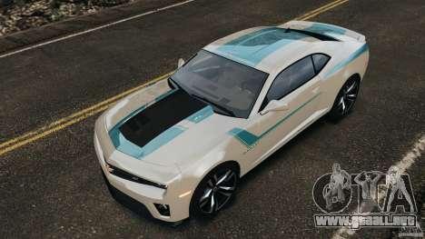 Chevrolet Camaro ZL1 2012 v1.2 para GTA 4 ruedas